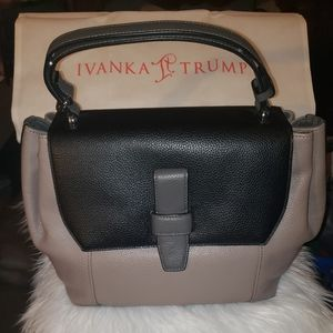 This is an Ivanka Trump satchal purse with dustbag